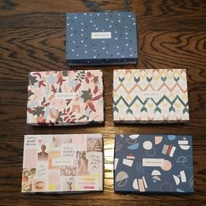 5 Empty Birchbox Boxes